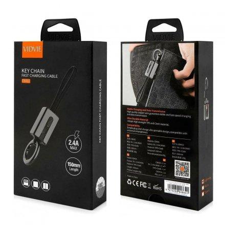 kabel usb vidvie cb455 iphone czarny