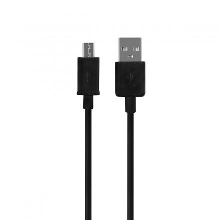 kabel usb micro 80 cm 8 mm czarny