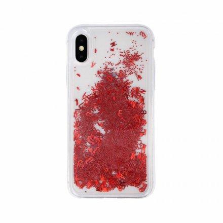 etui case liquid letters glitter czerwony 0