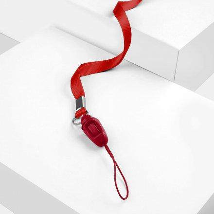 neckstrap 8mm 092 a 005 lux mix czerwony