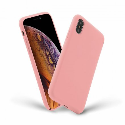 etui silicone cover rozowy