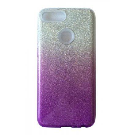 glitter silver violet