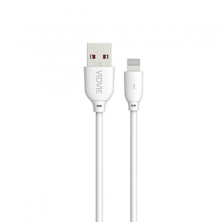 kabel usb vidvie cb445 iphone 5 bialy 1m