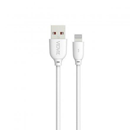 kabel usb vidvie cb445 iphone 5 bialy 1m